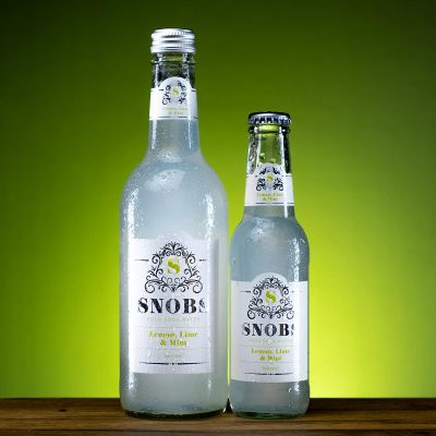 SNOBS Lemon lime and mint soda water